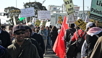 IBT supporters participate in action at Port of Oakland, California